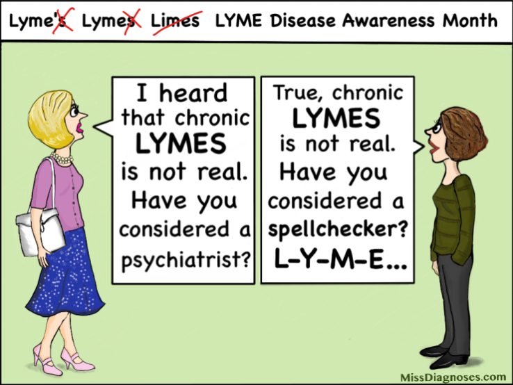 Person asks me about Lymes disease spelled with an s