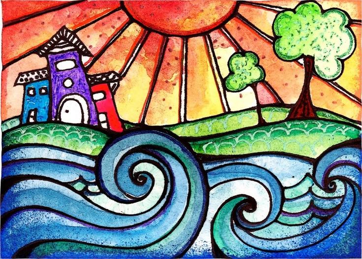 055855fc89fc377221904589e63223c9--city-sunset-doodling-art